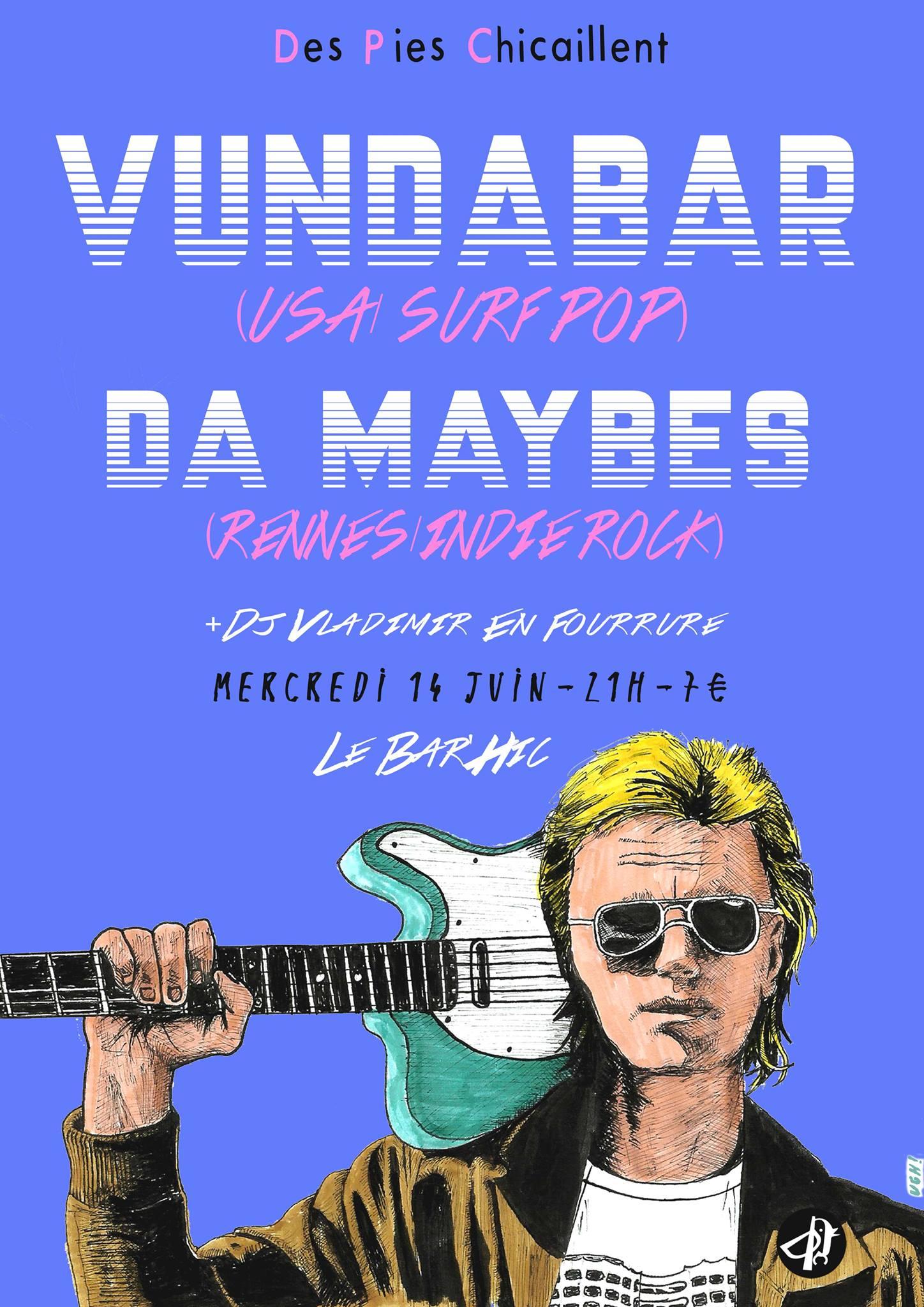 Concert w/ Vundabar (USA) @ Bar'Hic - © Hugh